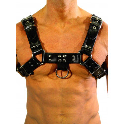 RudeRider Regular Shoulder Harness Leather Black/Black (T7304)