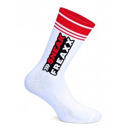 Sneak Freaxx Big Stripe Red Socks White One Size (T7645)