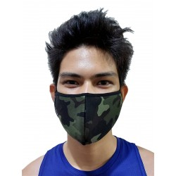GB2 Designer Face Mask Camo Green One Size
