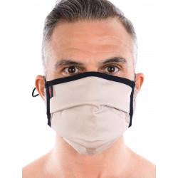 ToF Paris Fashion Pleated Mask Beige (T7712)