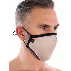 ToF Paris Fashion Seamless Mask Beige w. 2 Filters (T7714)