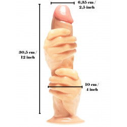 The 2 Fisted Grip Dildo (T7551)