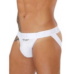 TOF Bulge Mesh Jockstrap Underwear White (T7904)