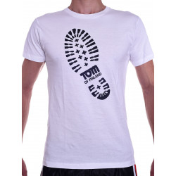 Tom of Finland Boot Print T-Shirt (Euro Size) White (T3658)