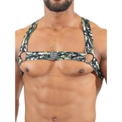 TOF Elastic Harness Camo Khaki (T7569)