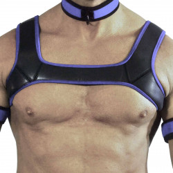 RudeRider Neoprene Harness Black/Purple (T7301)
