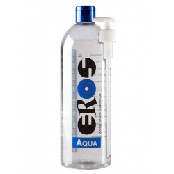 Eros Megasol  Aqua 1000 ml / 33 oz. Water-based Lubricant (Bottle) Incl. Pump (ER33900)