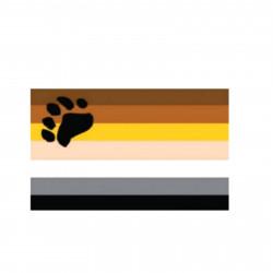 Bear Pride Aufkleber / Sticker 76 x 115 mm (T7767)