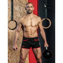 TOF Camo Gym Shorts Black (T8174)