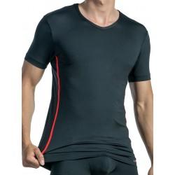 Olaf Benz V-Neck T-Shirt Regular RED1435 Black/Red (T3917)