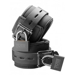 Tom of Finland Wrist Cuffs Neoprene Black With Locks (T4287)
