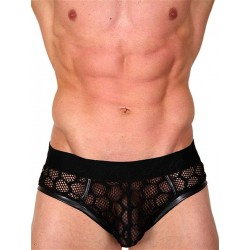 Pistol Pete Cubic Brief Underwear Black (T4342)