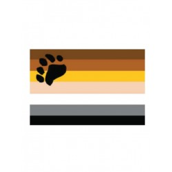 Bear Flag Aufkleber / Sticker 5.0 x 7,6 cm / 2 x 3 inch