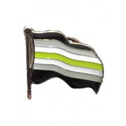 Pin Waving Agender Flag