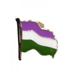Pin Waving Gender Queer Flag