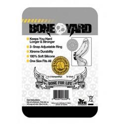 Bone Yard Silicone Cock Strap Black (T4927)
