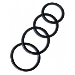 Thin Rubber Cockring 4-Ring-Set 40/45/50/55 mm (T0061U)