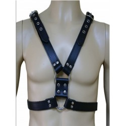 Leather Chest Harness Straight Style (T2048)