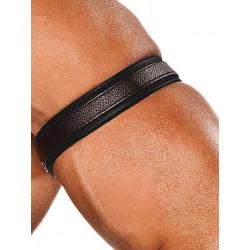 Colt Leather Bicep Strap - Black