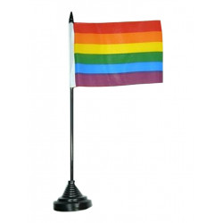 Gay Pride Rainbow Table Flag (T0123)