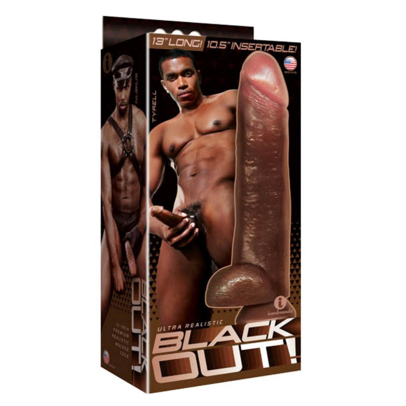 Blackout! Realistic Cock Black 13 inch (T5021)