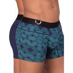 Rounderbum Package Lift Trunk 2-Pack Underwear Geometric Blue (T4847)