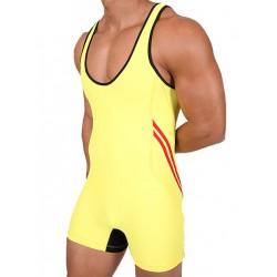 Pistol Pete Teammate Wrestling Singlet/Body Yellow (T4013)