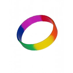 Rainbow Youth Bracelet Silicone / Armband kurz 2inch (T4748)