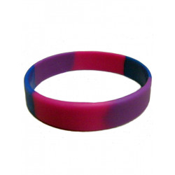 Bisexual Bracelet Silicone / Armband schmal (T4739)
