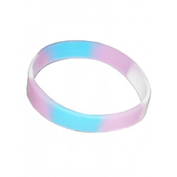 Trans Bracelet Silicone / Armband schmal (T4740)