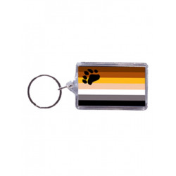Bear Flag Key Ring (T5145)
