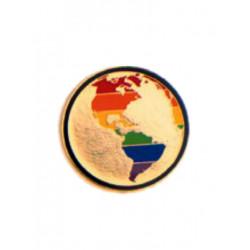 Pin Rainbow Globe (T5229)