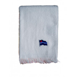 Leather Flag Towel/Handtuch White 28x43 cm / 11x17 inch (T5251)
