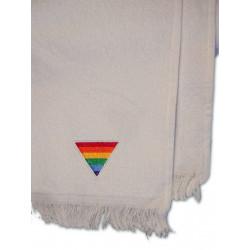 Rainbow Triangle Towel/Handtuch White 28x43 cm / 11x17 inch (T5244)