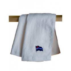 Leather Flag Gym Towel/Handtuch White 30x112 cm / 12x44 inch (T5249)