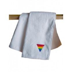 Rainbow Triangle Gym Towel/Handtuch White 30x112 cm / 12x44inch (T5243)