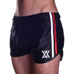 BoXer 80s Miniboxer Football Shorts Black/Red And White Stripes (T5421)