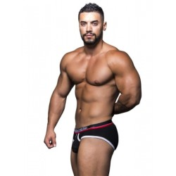 Andrew Christian Almost Naked Tagless Retro Brief Underwear Black (T5475)