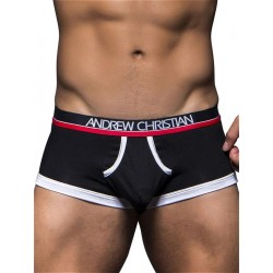 Andrew Christian Almost Naked Tagless Retro Boxer Underwear Black