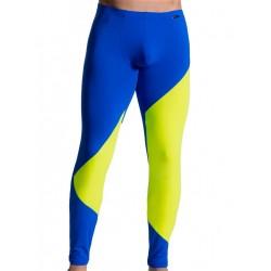 Olaf Benz Leggings RED1715 Underwear Blue/Lemon (T5539)